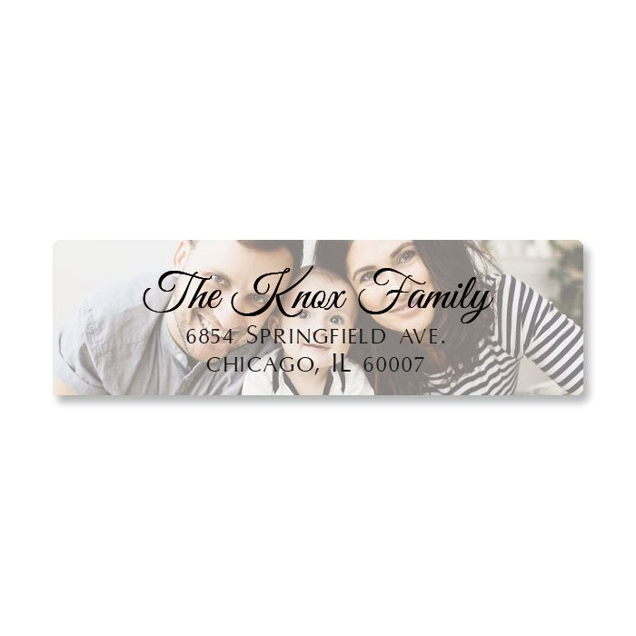 Full Classic Photo Personalized Address Labels