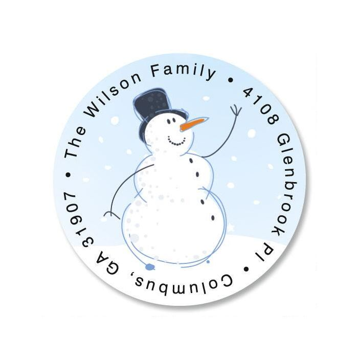holiday sparkle round address label current catalog