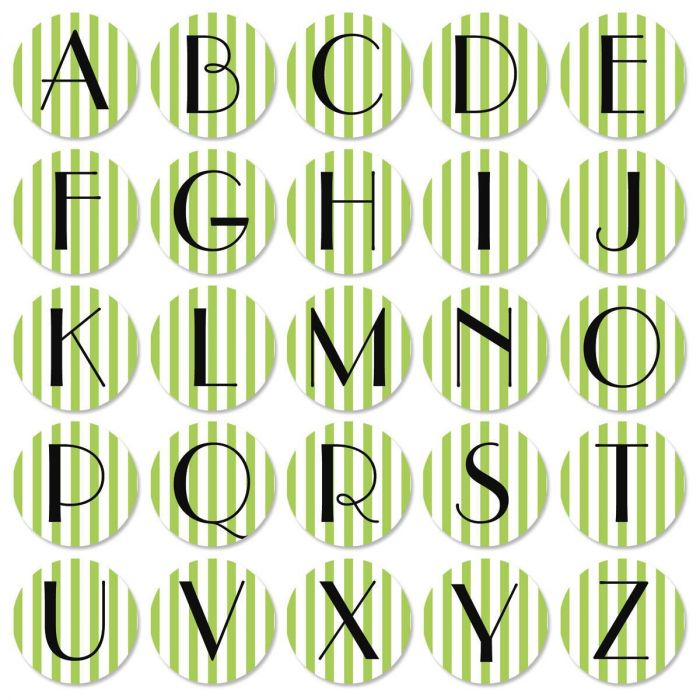 Stripes Initial Round Address Labels