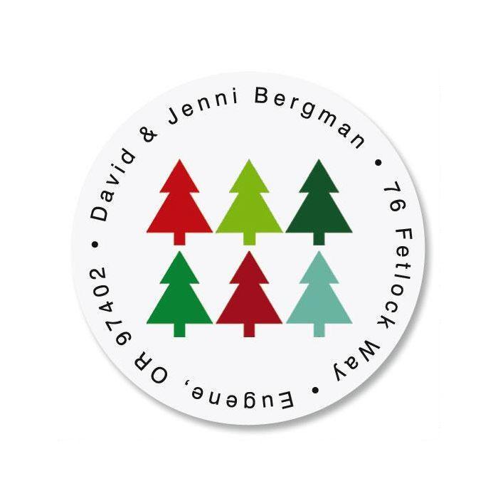 Oh Christmas Tree Round Address Label