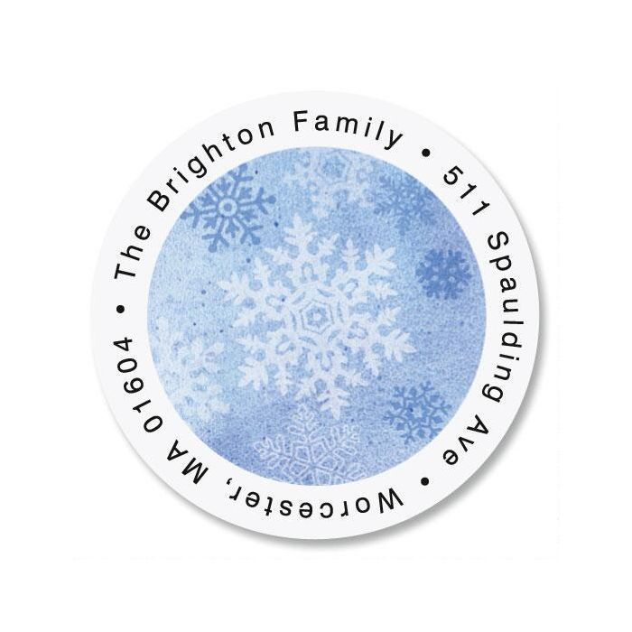Snowflake Round Address Labels