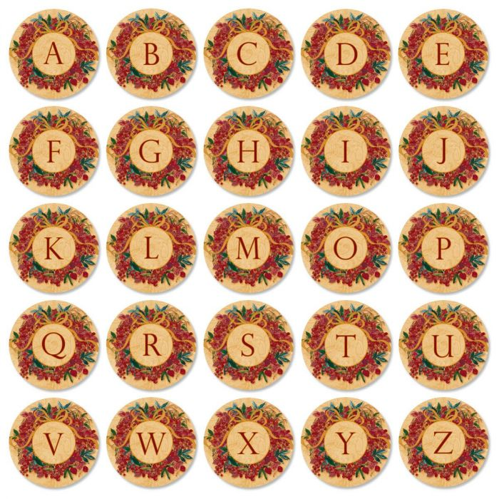 Christmas Initial Round Address Labels