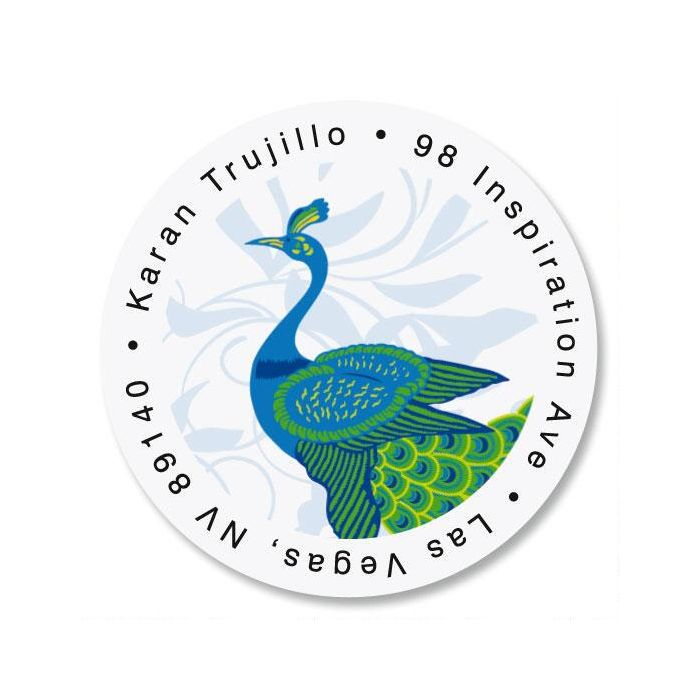 Peacock Luxe Round Label