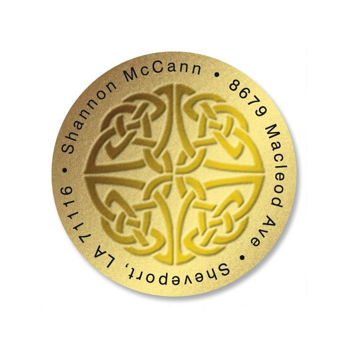 Celtic Knot Round Address Labels