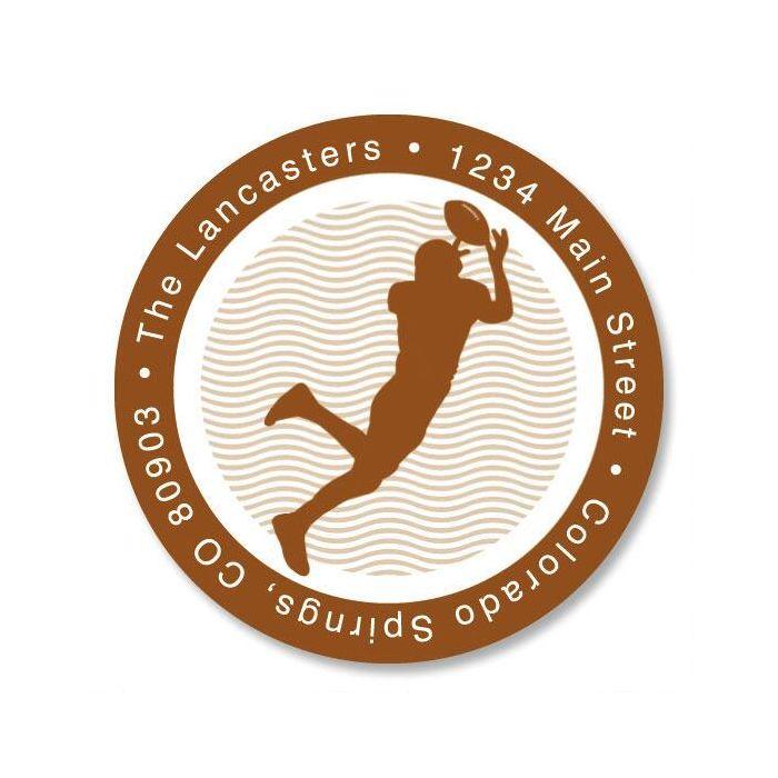 Sports  Round Address Labels  (6 Designs)