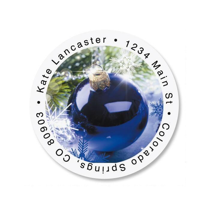 Blue Display Round Address Labels