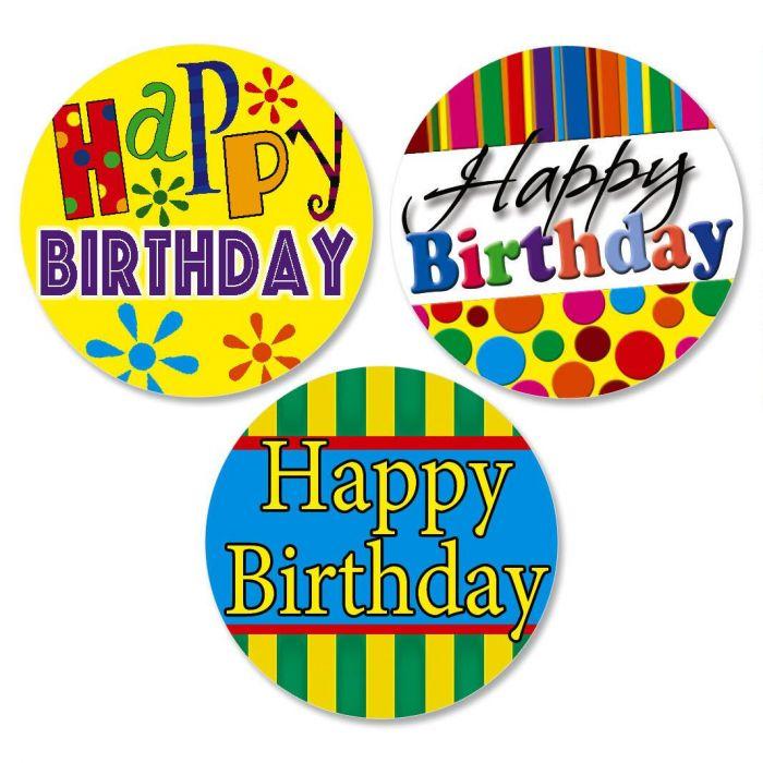 Happy Birthday Envelope Sticker Seals  (3 Designs)