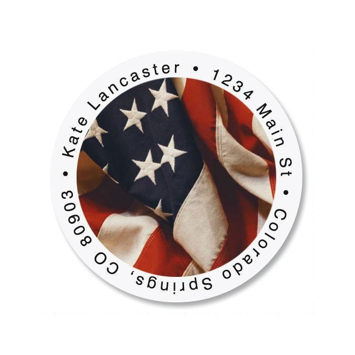 USA Round Address Labels