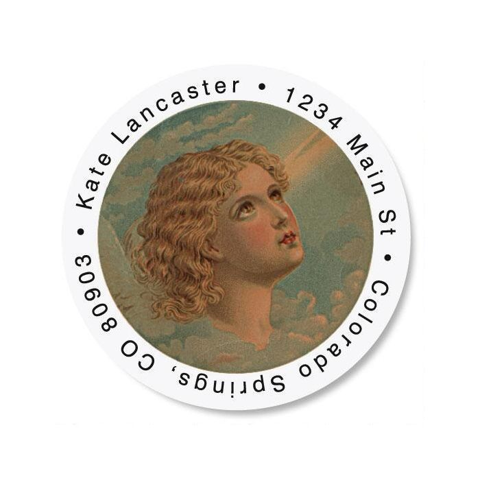 Evermore Round Address Labels