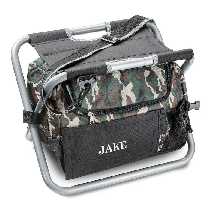 Personalized Deluxe Camo Sit N' Sip Cooler Seat
