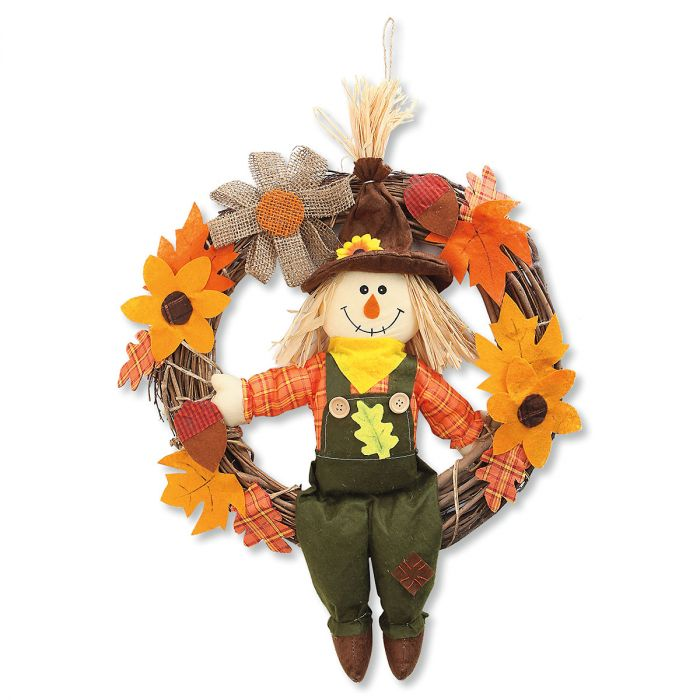 Sitting Scarecrow Wreath