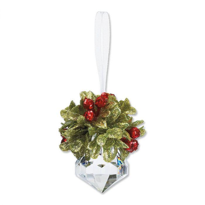 Teeny Mistletoe Christmas Ornament