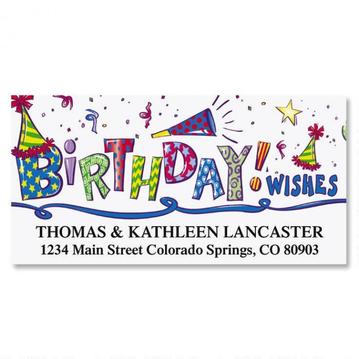 birthday wishes deluxe address labels current catalog