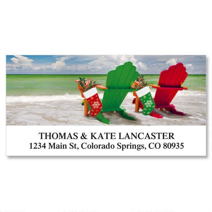 Holiday Adrirondack Deluxe Address Labels