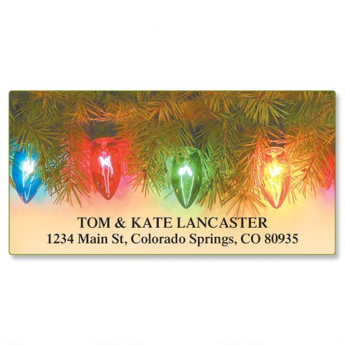 String Of Lights Deluxe Address Labels