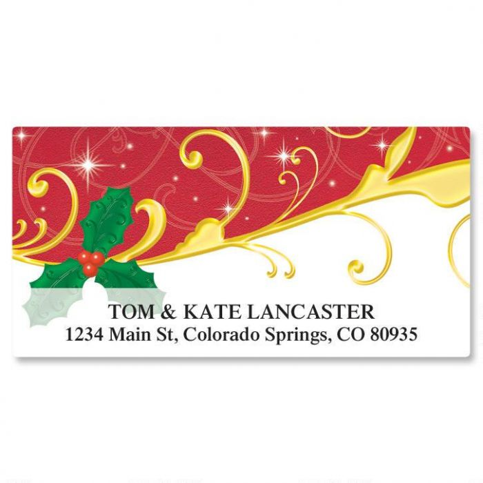 holiday dazzle deluxe address labels current catalog