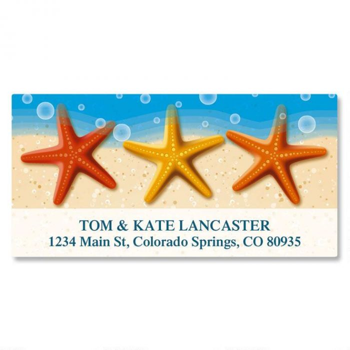 Starfish Trio Deluxe Address Labels
