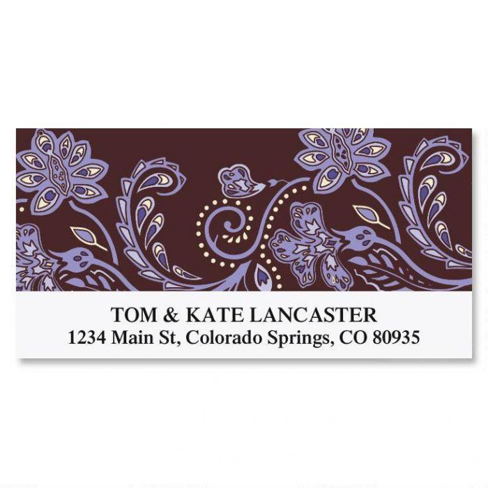 Lavender Brocade Deluxe Address Labels