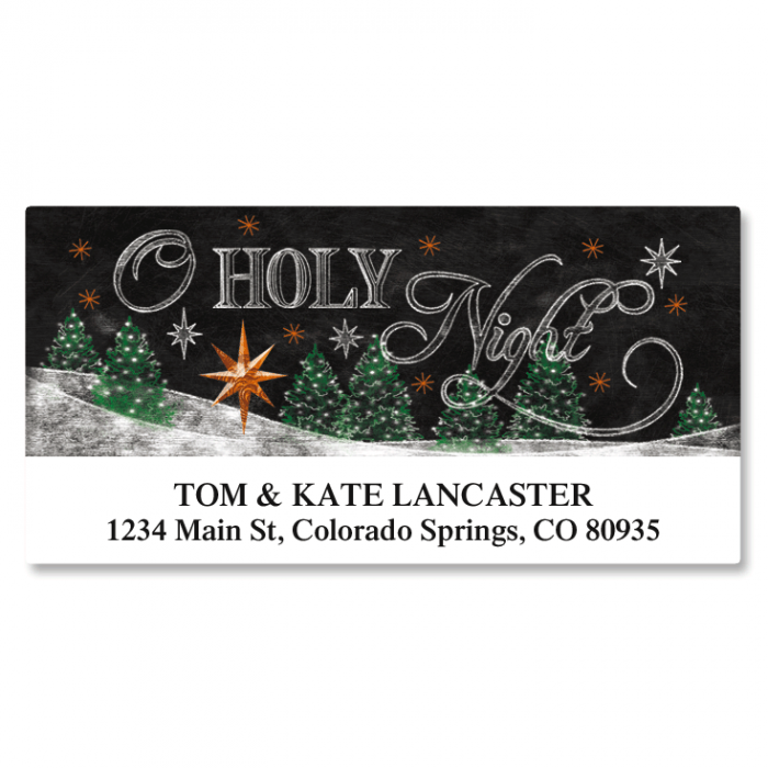 Holy Night Deluxe Address Labels