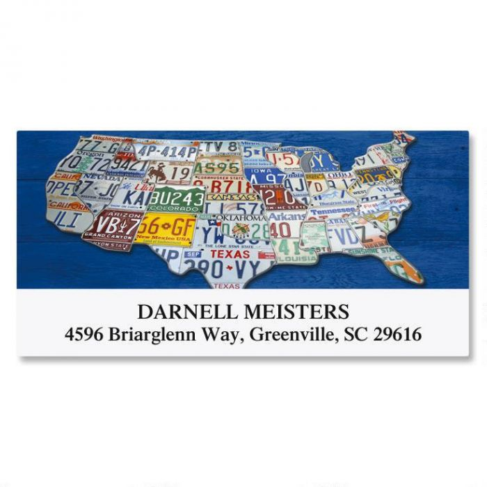 US Map Deluxe Address Labels