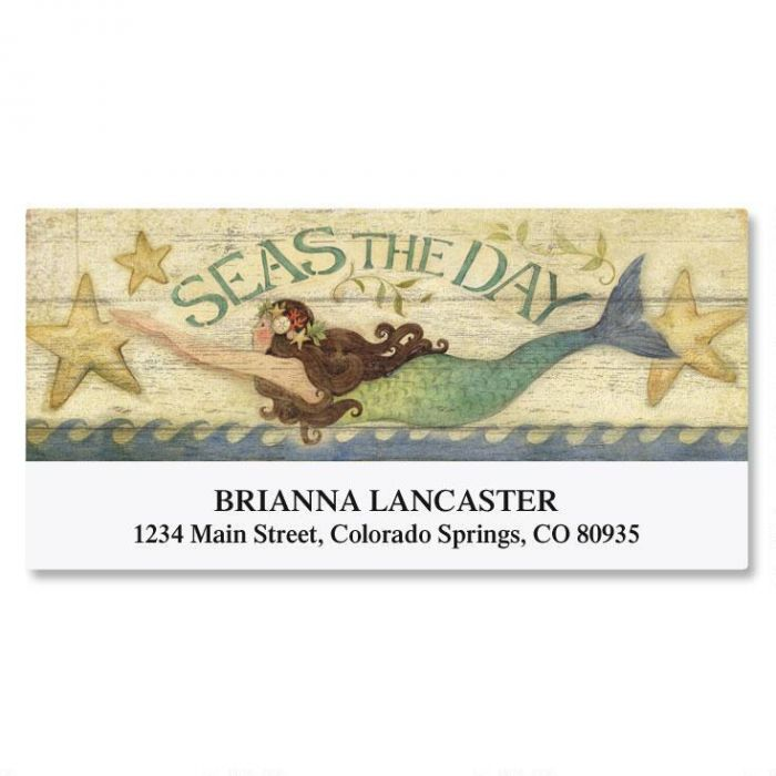 Seas The Day Deluxe Address Labels