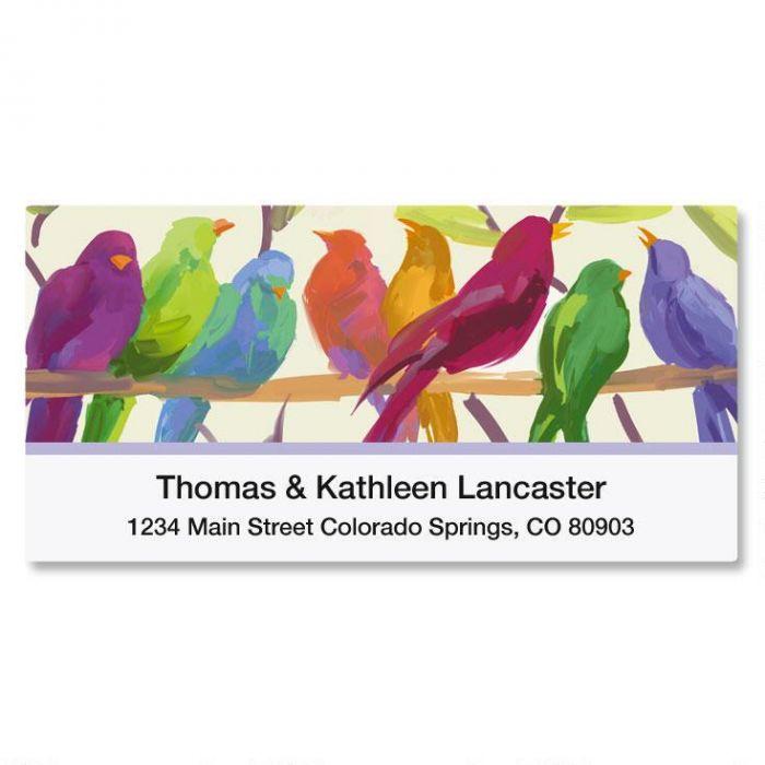 Flocked Together Deluxe Address Labels