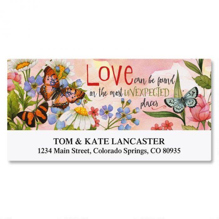 Butterfly Love Deluxe Address Labels