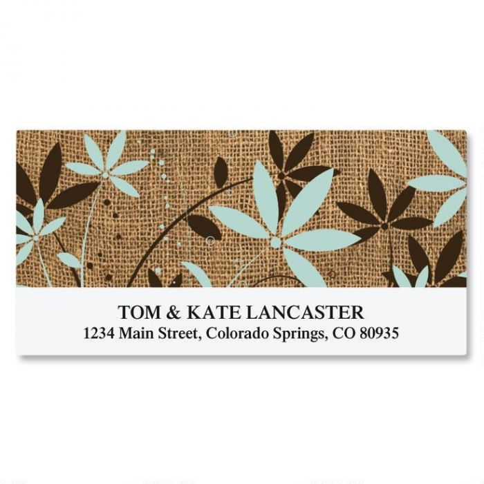 Burlap Deluxe Address Labels