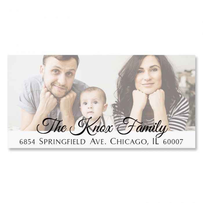 Full Deluxe Photo Personalized Address Labels