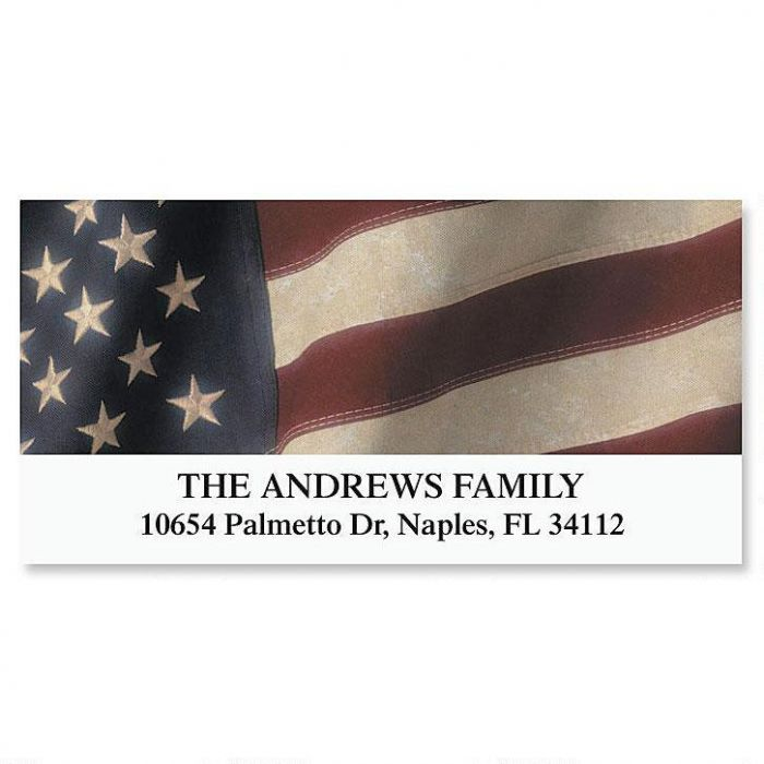 Old Glory Deluxe Address Labels