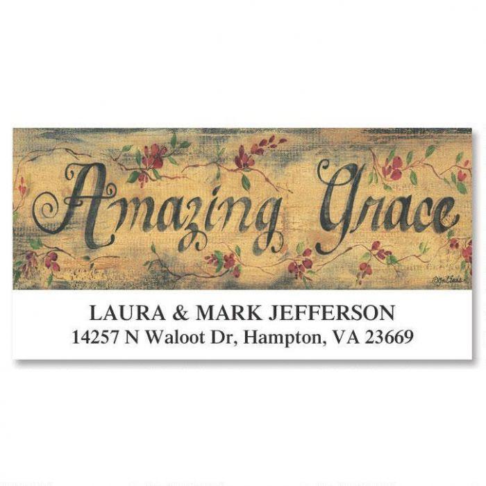 Amazing Grace Deluxe Address Labels