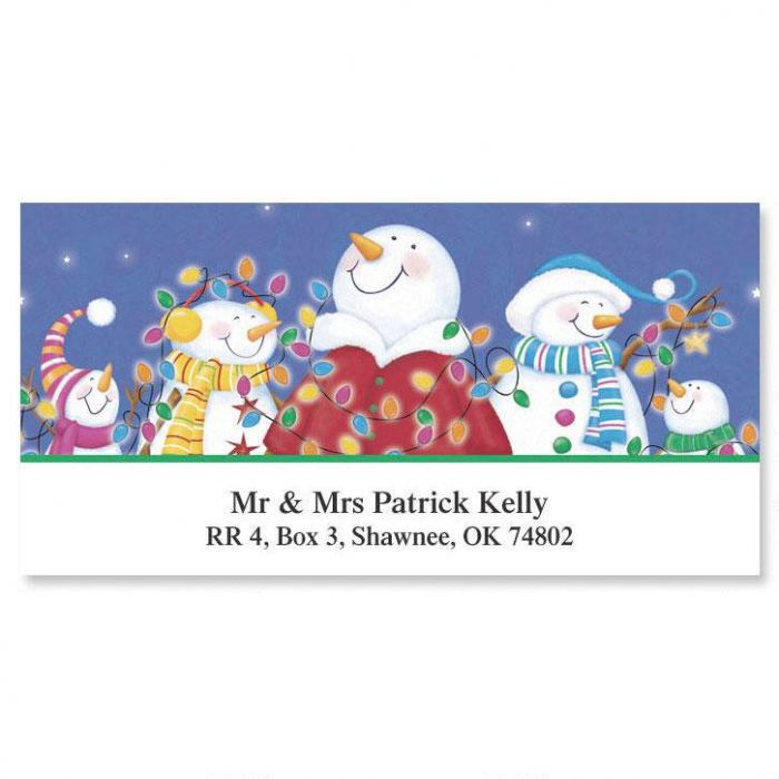 Merry & Bright Card Deluxe Address Labels