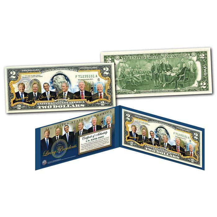 Living Presidents $2 Dollar Bill