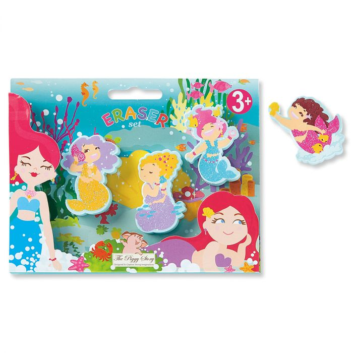 Magical Mermaid Set of Erasers