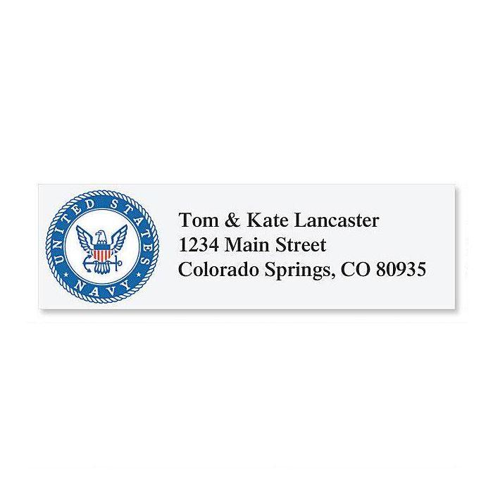 Navy  Classic Address Labels