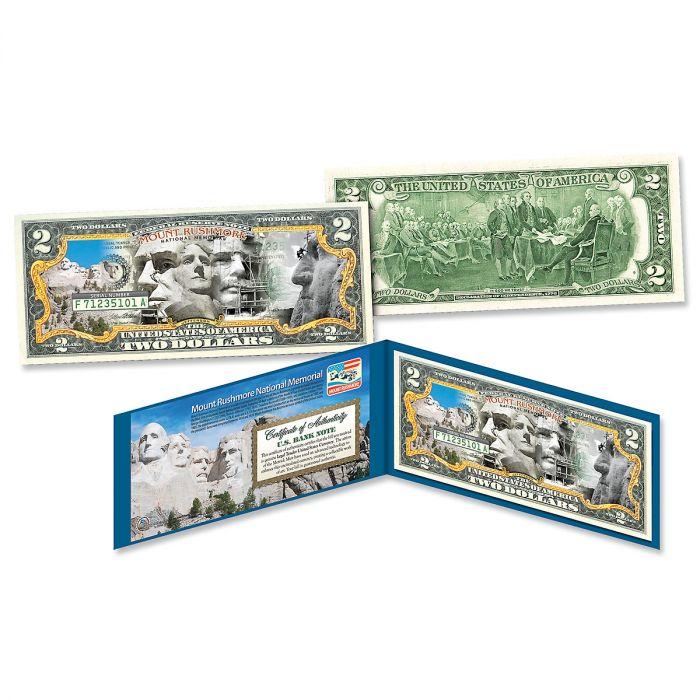 Mount Rushmore Commemorative $2 Bill