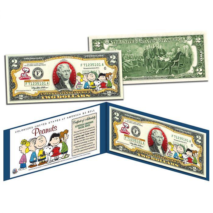 PEANUTS® 2 Dollar Bill