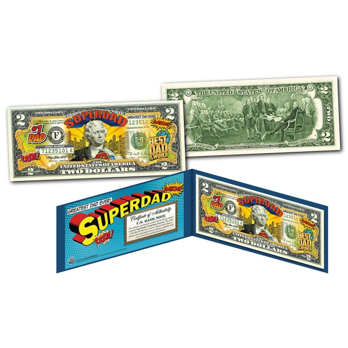 Super Dad 2 Dollar Bill