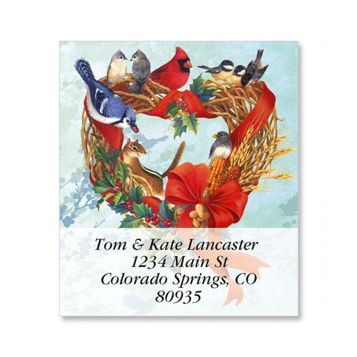 Birdland Wreath Select Address Labels