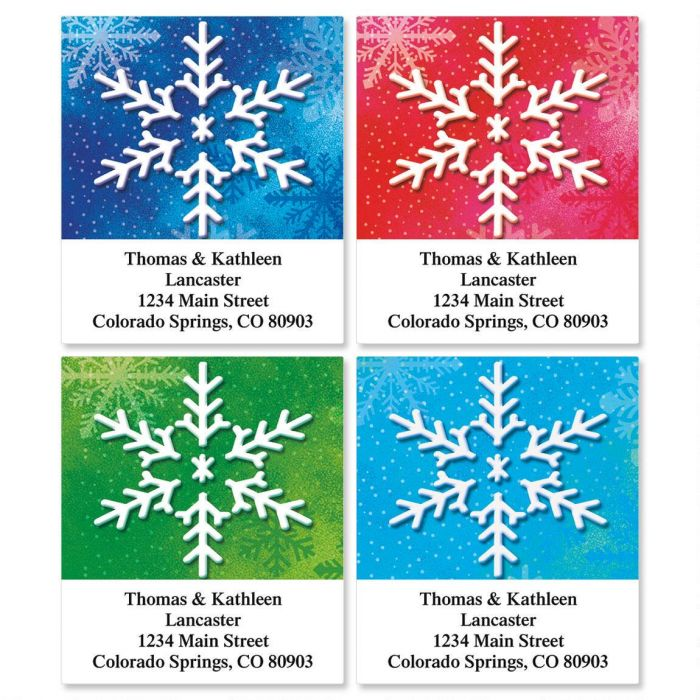 Snowflake Select Address Labels  (4 designs)