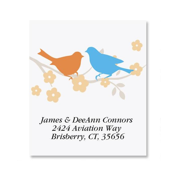 Love Birds Select Address Labels