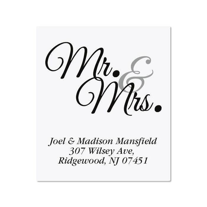 Mr & Mrs Select Address Labels