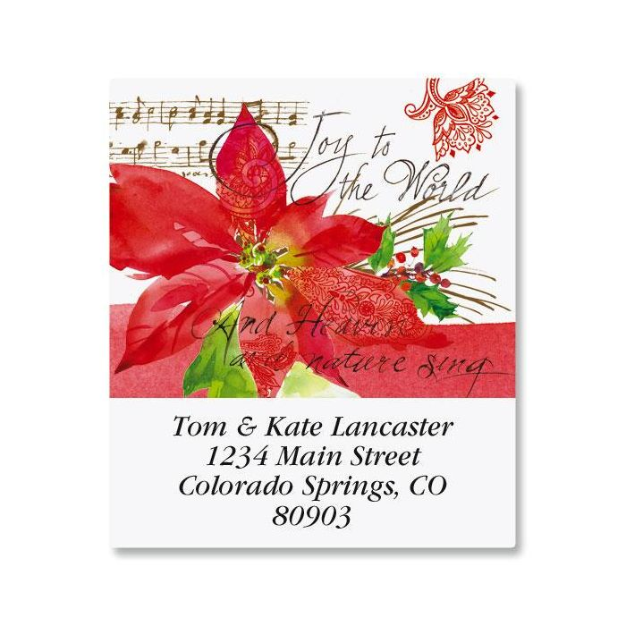 Poinsettia Melody Select Address Labels