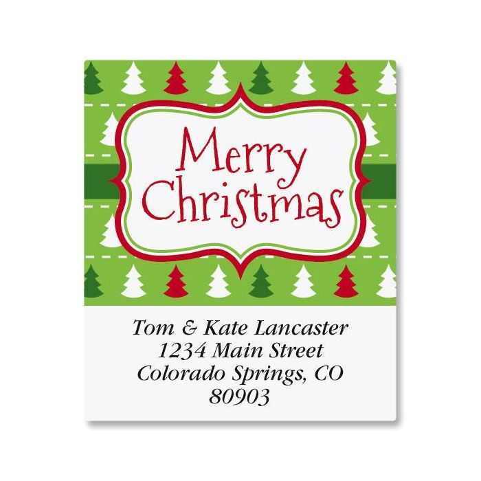 Holiday Frame Select Address Labels