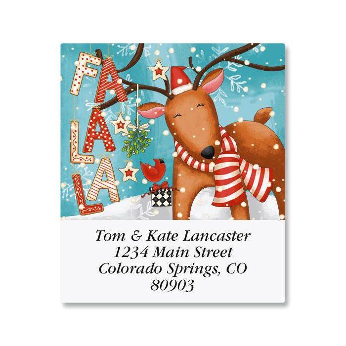 Reindeer Cheer Select Address Labels