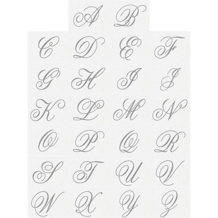Brushed Initial Select Address Labels