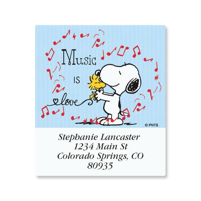 Music Snoopy™ Select Address Labels