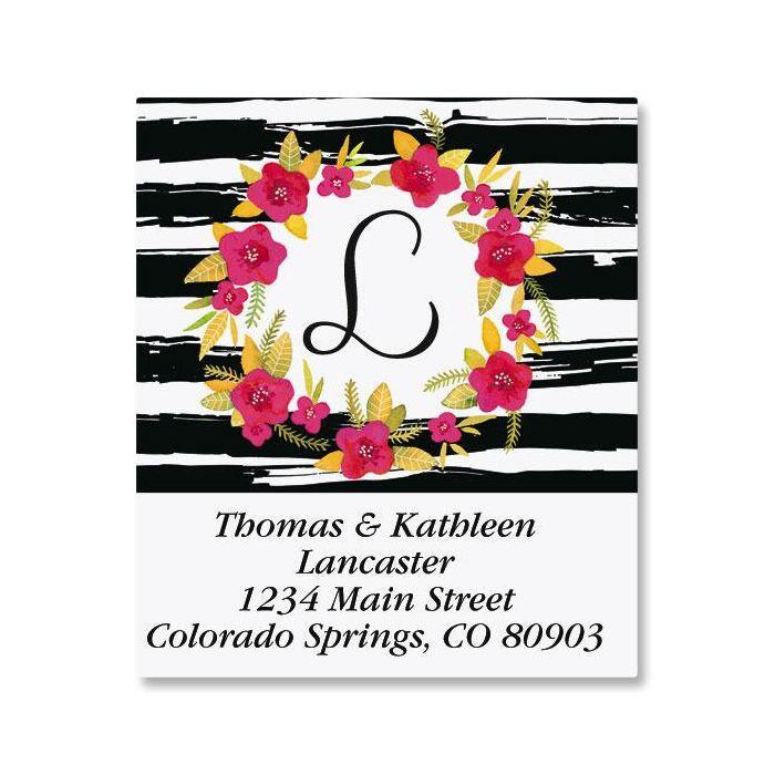 Vivid Wreath Select Address Labels