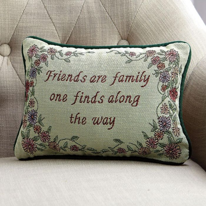 Friends Are Family Word Decorative Pillow
