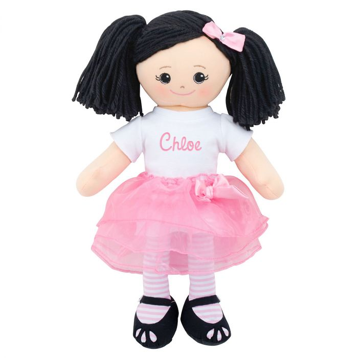 Personalized Asian Rag Doll with Tutu